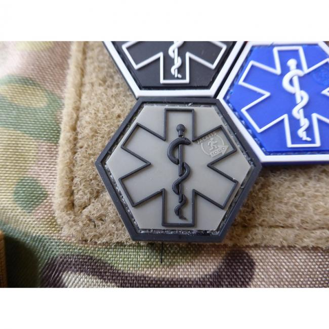 PARAMEDIC PATCH | Star of Life | Farbe: staingrau-oliv | JTG 3D Rubber Patch